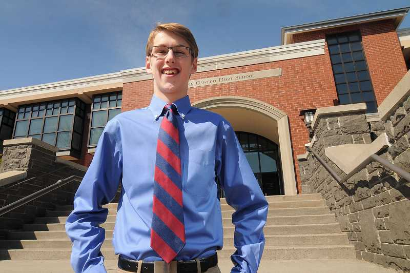 by: REVIEW PHOTO: VERN UYETAKE - LOHS senior Grant Van Hoomissen is an award-winning triathlon competitor and marksman who achieved the rank of Eagle Scout at age 12. He will be attending the U.S. Air Force Academy in the fall.