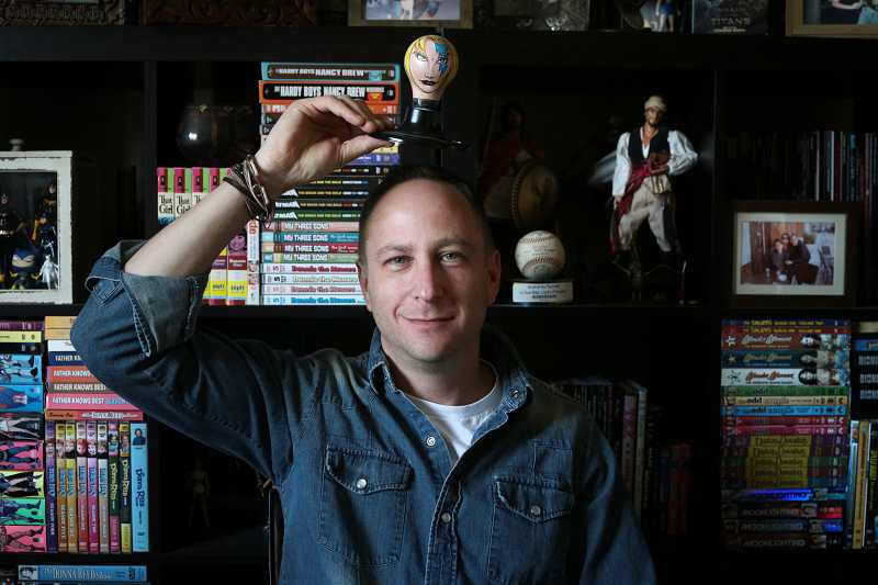 by: TIMES PHOTO: JONATHAN HOUSE - Bluewater Comics President Darren Davis has developed a number of comic books and graphic novels, including one based on Sable of the World Wrestling Federation, called 'The Tenth Muse.'