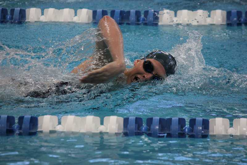 by: MINES ATHLETICS / COURTESY - Canby High School alumna Carrie Kralovec was part of several record-setting relays in her first seaon with the Colorado School of Mines swimming team.