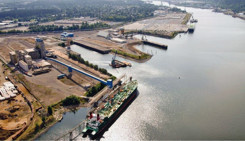 by: PAMPLIN MEDIA GROUP: JONATHAN HOUSE - One of the Port of Portland terminals where material dredged from the Willamette River could be stored in confined disposal facilities.