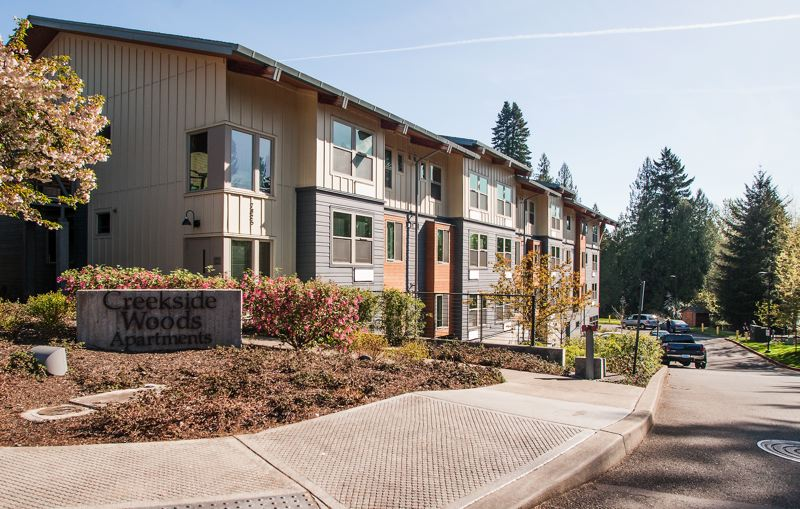 by: SPOKESMAN FILE PHOTO: JOSH KULLA - Creekside Woods Apartments, a 55-and-over complex in central Wilsonville, is one of five complexes in the city to receive a property tax exemption in exchange for offering reduced rent for low-income tenants.
