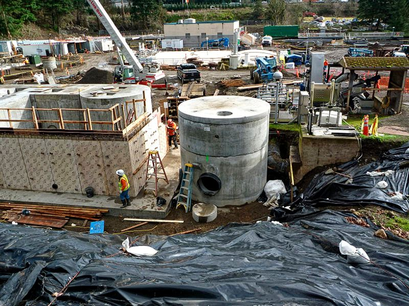 by: SUBMITTED PHOTO: CITY OF WILSONVILLE - A dedication ceremony will be held Thursday at 2 p.m. for the new Wilsonville wastewater treatment plant, shown here while still under construction.