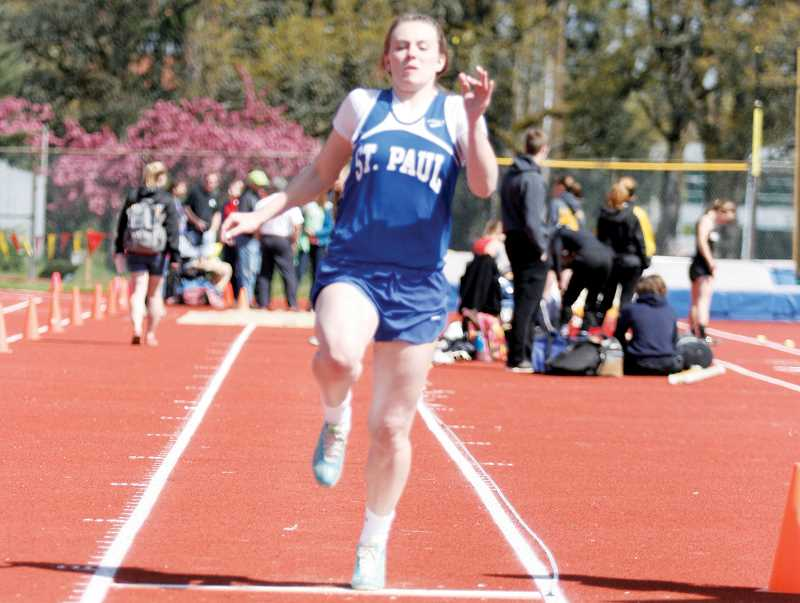 by: PHIL HAWKINS - St. Paul's Remy Brentano placed in the top three in three events Thursday.