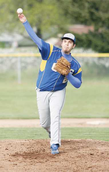 by: PHIL HAWKINS - Gervais senior Adam Jaramillo led the Cougars from the mound in a 9-6 road victory over the Sheridan Spartans.