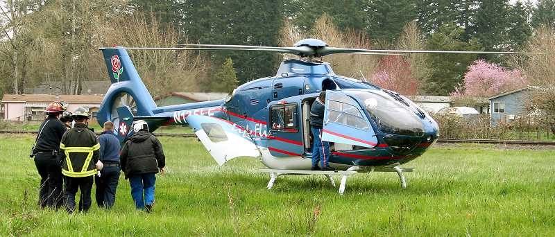 by: FILE PHOTO - Saving lives - Life Flight Network is called in instances of trauma. In Newberg, that occurs about 30 times a year, with patients transported to one of two trauma centers in Portland.