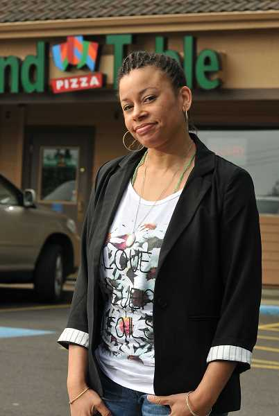 by: TIDINGS PHOTO: VERN UYETAKE - Round Table Pizza was a popular hang-out spot for Lowery and her friends.