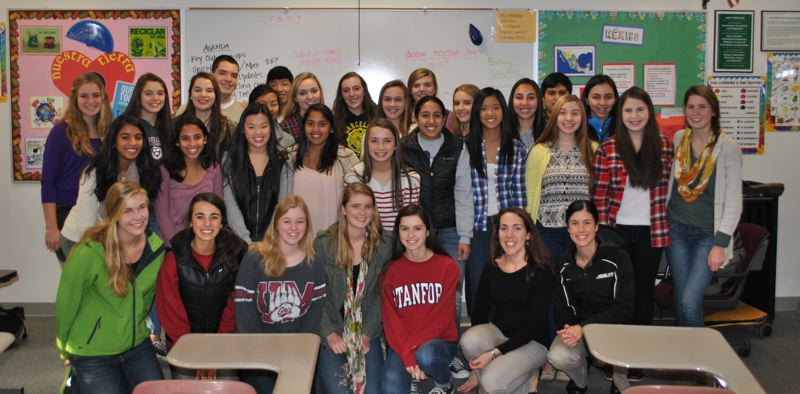 by: SUBMITTED - The Jesuit High School Green Team poses for a photo. All JHS clubs are 100 percent student driven.