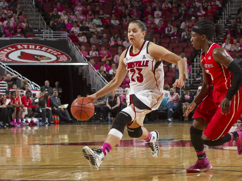by: COURETSY OF UNIVERSITY OF LOUISVILLE - Former Louisville Cardinals guard Shoni Schimmel, the No. 8 pick in last weeks WNBA draft, is in camp with her new team, the Atlanta Dream, and ready to launch her professional career.