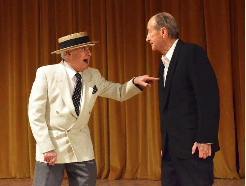 by: RON TENISON, NORTHWEST SENIOR THEATRE - Robert Plainfield and Duane Crane team up for Are You Havin Any Fun? in Northwest Senior Theatres spring variety show.