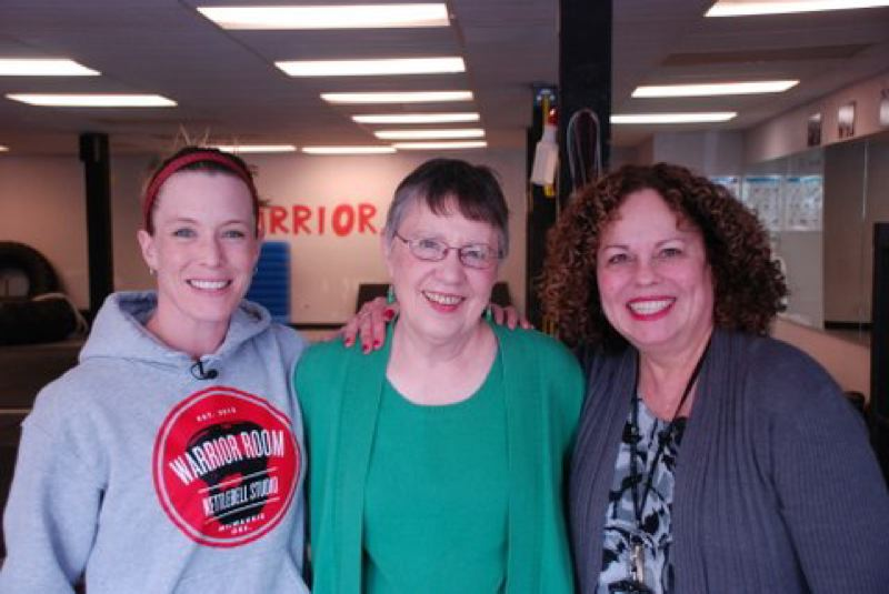 by: PHOTO BY ERIN FLINTJER - Pictured are Alexis Moore, Jeanne Magmer, North Clackamas Education Foundation board member, and Denise Torres.