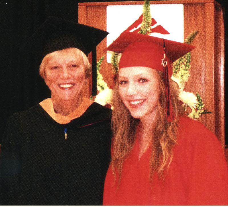 by: CONTRIBUTED PHOTO - Allen helped her granddaughter, Nicole Tannarome, earn her GED.