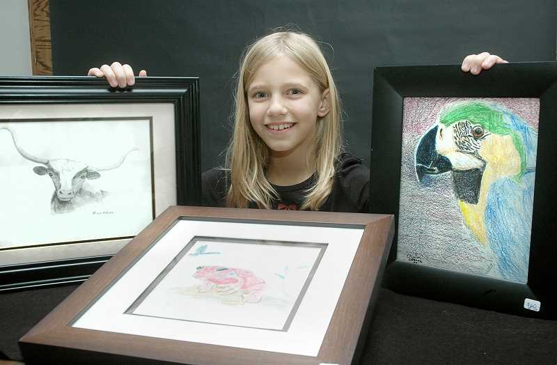 by: FILE PHOTO - Young talent -- Featured for the second time, now 10-year-old Olivia Osborn will show pieces during the First Friday Art Walk at American Family Insurance.