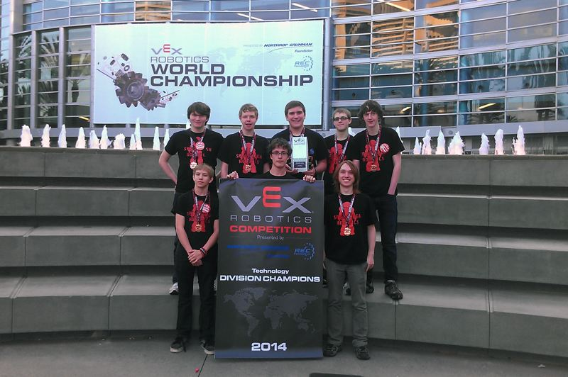 by: CONTRIBUTED PHOTO - SHS Robotics Club students will return from California in victory.