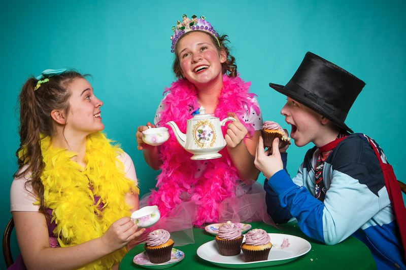 by: PHOTO BY OWEN CAREY - Haley Ward as Bree (from left) helps Nancy (Madison Wray) and Lionel (Brendan Long) have tres magnifique tea parties in Oregon Children's Theatre's 'Fancy Nancy.'