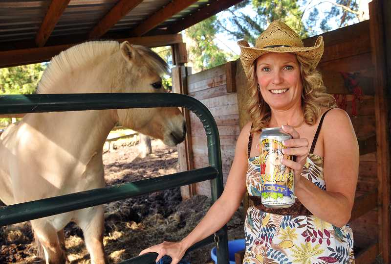 by: TIDINGS PHOTO: VERN UYETAKE - Love made sure to do her research before diving into the project, and found that beer is actually good for horses.