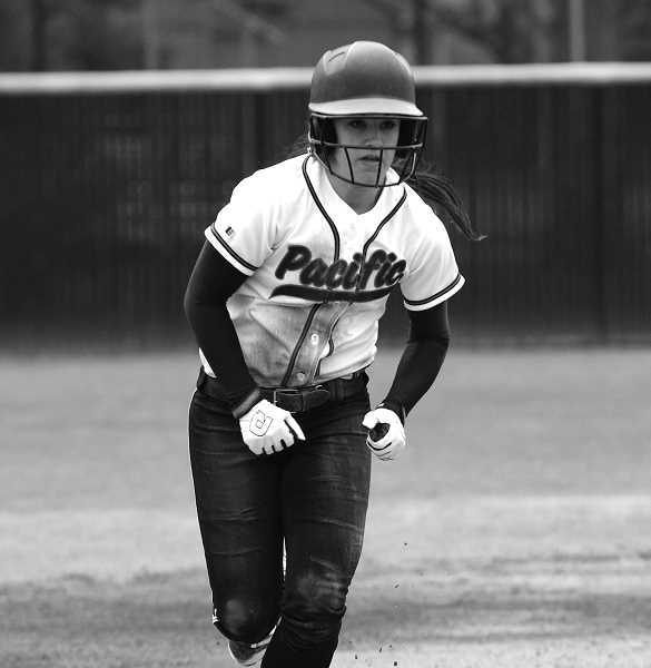 by: COURTESY PHOTO: KIP YOSHIMURA - Pacific sophomore Rachel Roberts was recently selected as the NWC softball player of the year.