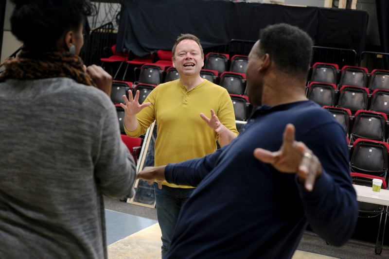 by: TRIBUNE PHOTO: JONATHAN HOUSE - Director Roger Welch works with the cast of 'Ain't Misbehavin' ' and says, 'This show is infectious, funny and thoroughly entertaining - you'll be wanting more.'
