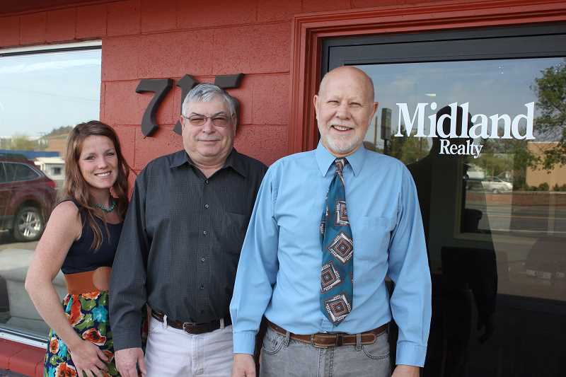 New staff members at Midland are Rachel Bare, left, Wayne Marshall and David McCourtney.