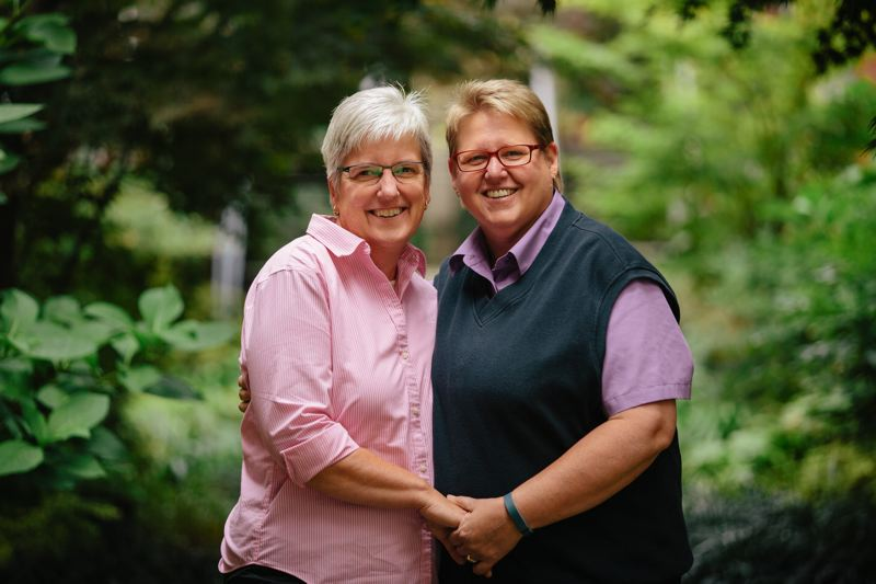 by: CONTRIBUTED PHOTO: ALICIA J. ROSE PHOTOGRAPHY - Deanna Geiger and Janine Nelson are platiffs in a lawsuit challening Oregons ban on same-sex marriage.