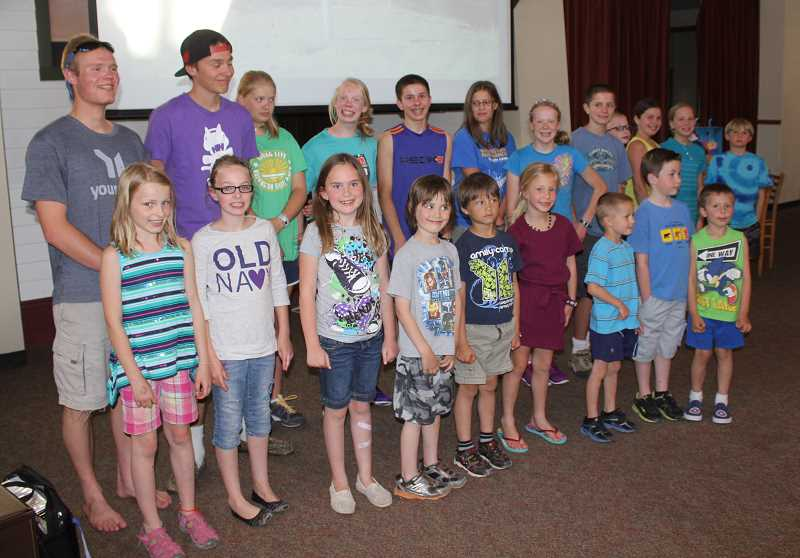 by: SUSAN MATHENY - The board met most of the 18 students who attend the K-8 Big Muddy School, as well as others who are in high school.