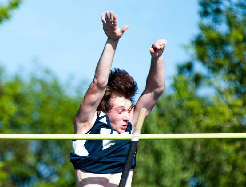 by: GREG ARTMAN - Wilsonville senior Kyle Roberts enters the district meet with the No. 1 ranking in the boys pole vault.