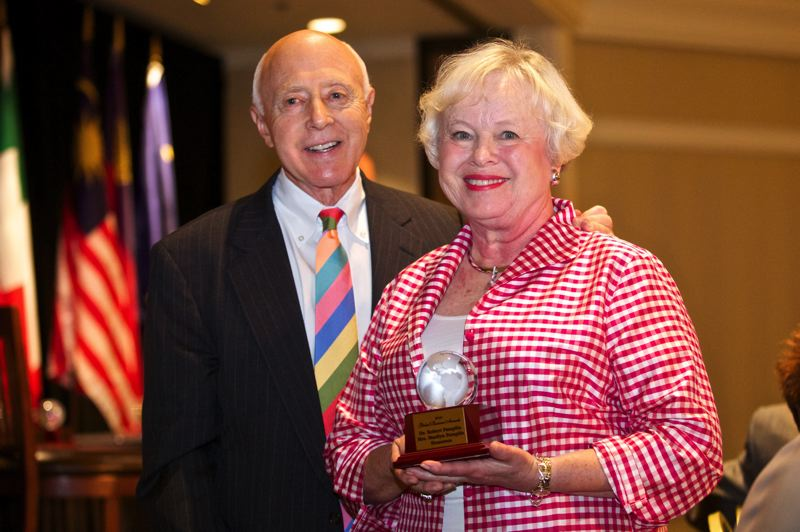 by: TRIBUNE PHOTO: JAIME VALDEZ - Dr. Robert and Marilyn Pamplin Jr. were among those honored with Global Business Awards last week.