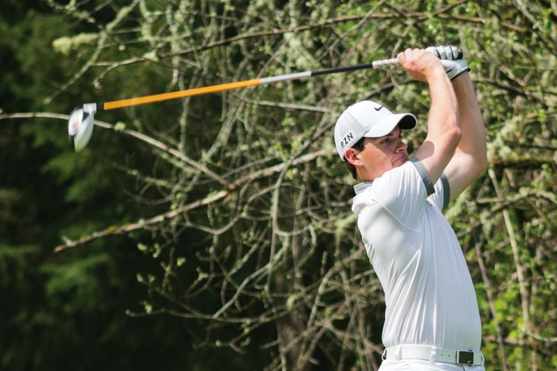 by: HILLSBORO TRIBUNE PHOTO: CHASE ALLGOOD - Glencoe senior Jared Duvall erased a four-shot deficit on Tuesday afternoon to win a Pacific Conference district golf championship.