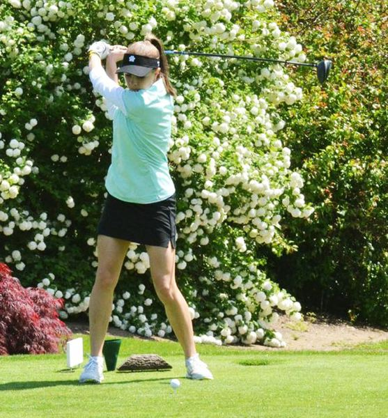 by: JEFF GOODMAN - West Linn's Katie Fillion was the leader after the first day of districts and finished in a tie for second overall with teammate Sarah Archuleta only behind Amanda Elich.