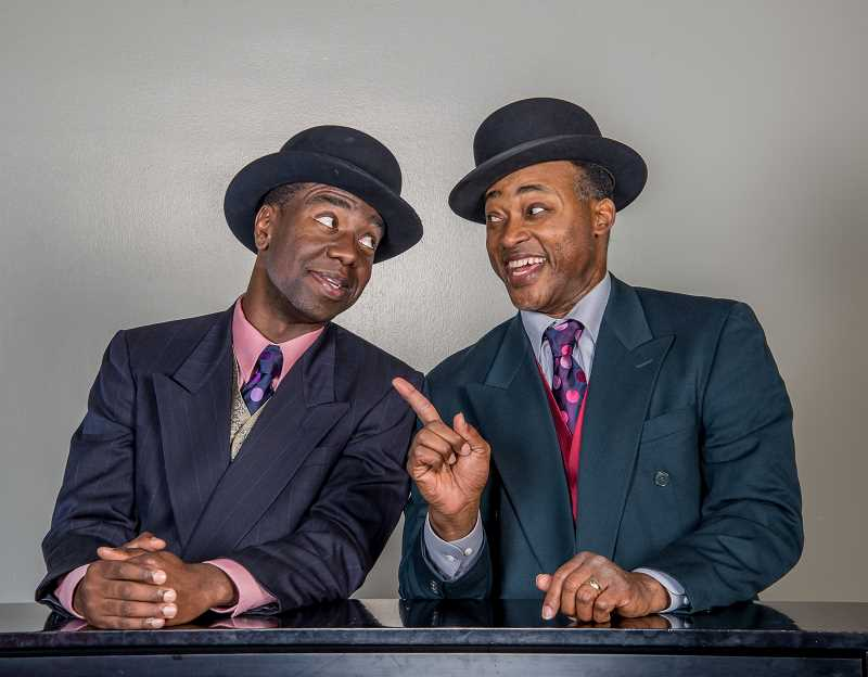 by: SUBMITTED PHOTO: PAUL S. FARDIG  - At left, Monte J. Howell and Terence Kelley in Stumptown Stages Aint Misbehavin.