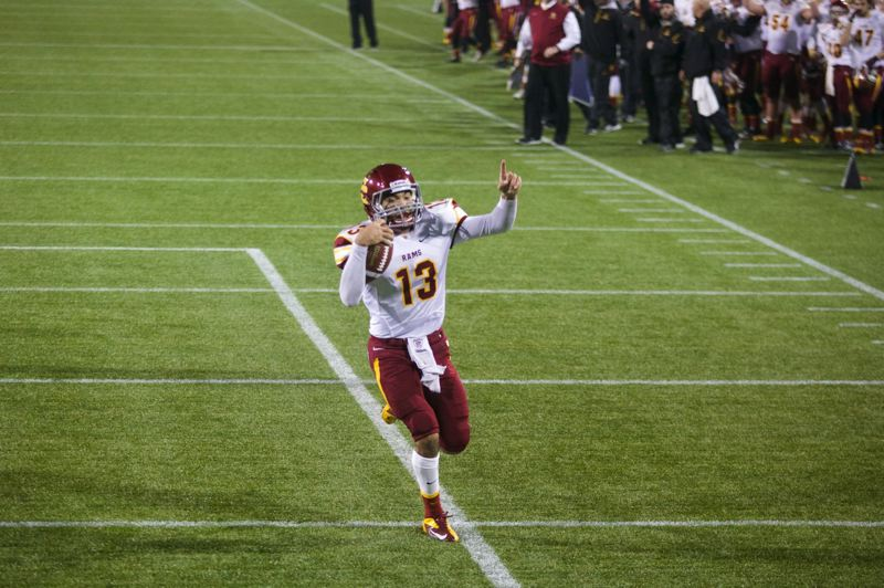 by: TRIBUNE FILE PHOTO: JAIME VALDEZ - Aidan Wilder heads to the end zone for Central Catholic in the Rams state semifinal win against Tigard.
