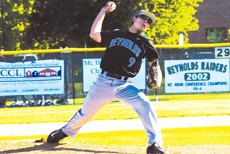 by: THE OUTLOOK: PARKER LEE - Raiders pitcher Joseph Palmisano led the way to a win over Central Catholic to start the series Monday.