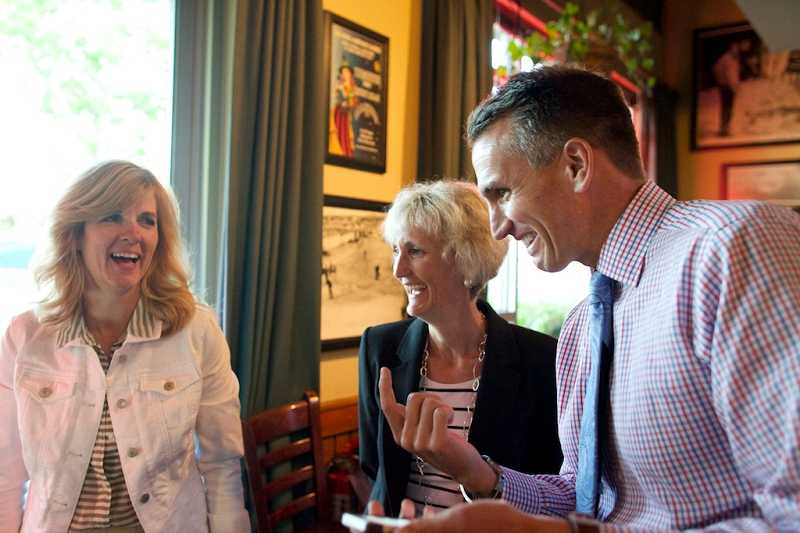 by: TIMES PHOTO: JAIME VALDEZ - Beaverton School District Superintendent Jeff Rose shares his excitement with board members Linda Degman (left) and LeeAnn Larsen as initial election results show voters approving a $680 million capital bond measure. Times Photo: Jaime Valdez