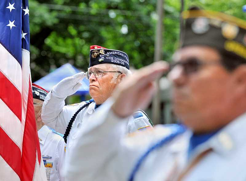 by: GARY ALLEN - Paying tribute - Members of the Veterans of Foreign War, American Legion and other groups will gather May 26 at Memorial Park for Newberg's annual services to honor the dead.