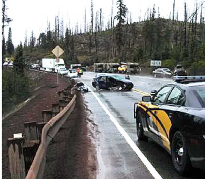 by: SUBMITTED PHOTO - A Mt. Angel man died in a three-vehicle crash on Highway 20 on the Santiam Pass on Sunday.