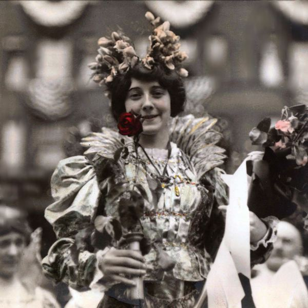 by: COURTESY OF ROSE FESTIVAL ASSOCIATION - Three young women are vying to portray the first Rose Festival Queen, Thelma Hollingsworth in 1914.