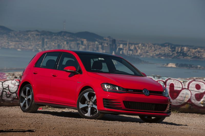 by: TRIBUNE PHOTO: JOHN M. VINCENT - The 2015 Volkswagen GTI will be the first of the Golf lineup to arrive in the U.S. It carries a 210-horsepower turbocharged 4-cylinder engine under the hood.