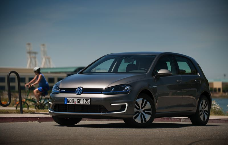 by: TRIBUNE PHOTO: JOHN M. VINCENT - C-shaped LED accents, unique wheels, and a blue stripe across the nose distinguish the E-Golf from its counterparts. It's set to arrive later this year.