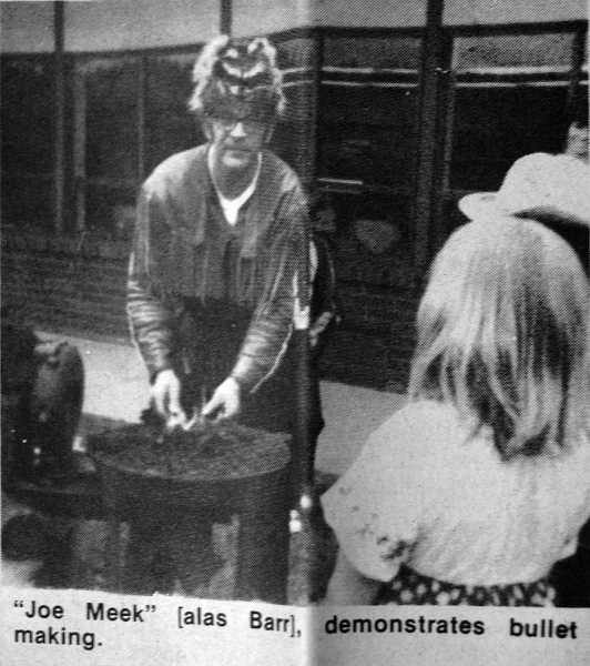 by: ARCHIVE PHOTO - 1974: Joe Barr demonstrates bullet making during Heritage Day at Eagle Creek School.