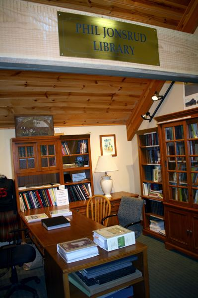 by: POST PHOTO: KYLIE WRAY - The museums upstairs library is named for board member Phil Jonsrud.