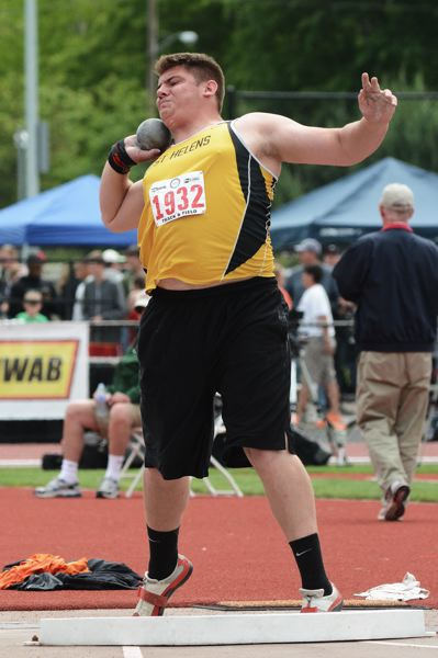 by: JOHN WILLIAM HOWARD - Jacob Zartman placed seventh with a throw of 45-5 in the shot put.