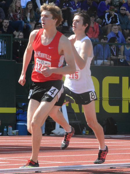 by: TIMES PHOTO: MATT SINGLEDECKER - Jesuit senior Sam Remington made the final heat of the 800-meter dash and took fifth to help the Crusaders clinch their second straight 6A state championship.