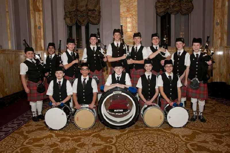 by: SUBMITTED PHOTO - A Lakeridge Junior High student is in the Portland Metro Youth Pipe Band, which is fundraising to pay its way to compete at the World Pipe Band Championships in Glasgow, Scotland in August 2015.