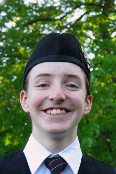 by: SUBMITTED PHOTO - Will Lyon is a Lakeridge Junior High student who is in the Portland Metro Youth Pipe Band.