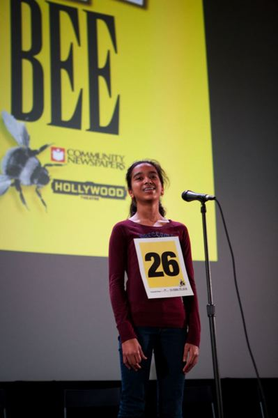 by: TRIBUNE FILE PHOTO: ADAM WICKHAM - Beaverton's Divya Amirtharaj made it to the third round in this week's 2014 Scripps National Spelling Bee in National Harbor, Md.