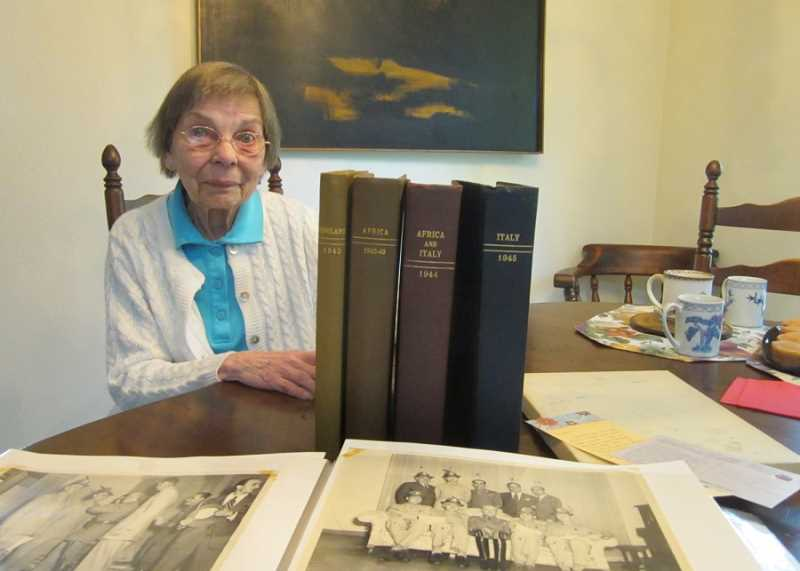 by: BARBARA SHERMAN - DETECTIVE WORK LEADS TO LETTERS' OWNER - Barb Clair, shown in her Summerfield home, was grateful that a woman in Washington connected her dad's lost letters with a blog Barb's son Chris wrote about his granddad, which led to them being returned.