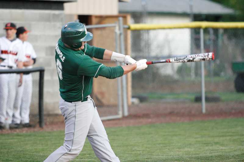 by: JO WHEAT - Tristan Wampole went 3-for-4 with two doubles and five RBI to lead the North Marion baseball team in its 12-3 rout of La Grande in the Class 4A state quarterfinals.