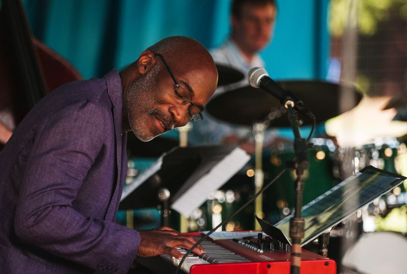 by: SPOKESMAN PHOTO: JOSH KULLA - Portland jazz pianist and Portland State University professor Darrell Grant is shown here with his quintet He Said, She Said, featuring fellow Portlanders Marilyn Keller and Jeff Baker.