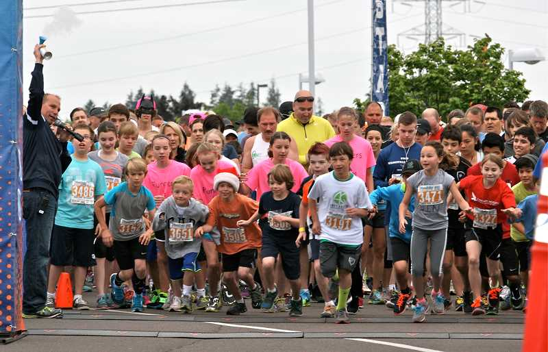 More than 100 runners finished the 10K at the Tonkin For the Love of Schools Challenge.