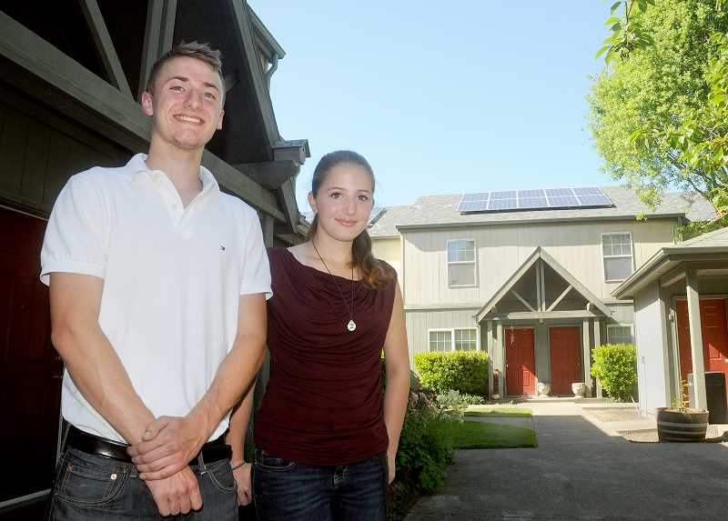 by: GARY ALLEN - Handing it down - Green Food Nation founder Collin Styring will hand over leadership of the nonprofit to his sister Gillian when he heads off to Harvard University in the fall.