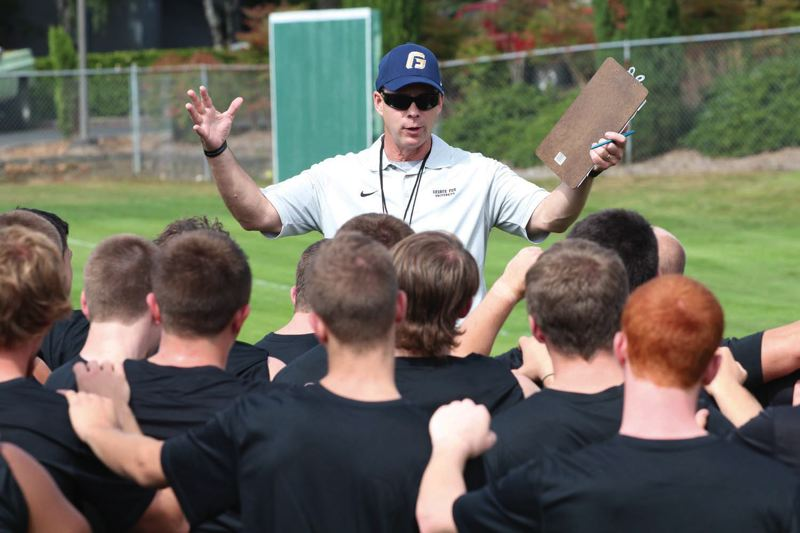 by: COURTESY OF GEORGE FOX UNIVERSITY - Chris Casey, new coach of George Fox University's restored football program, expects to have 60 freshmen boost his training camp number to more than 100 players when the Bruins begin drills on Aug. 14.